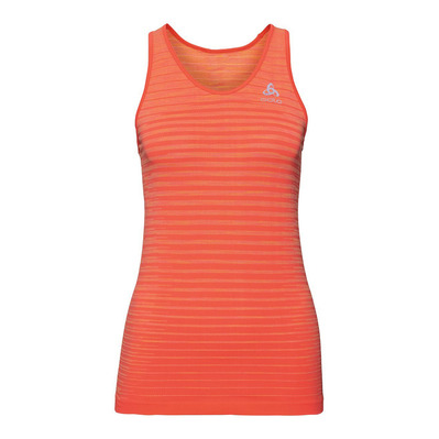 ODLO - Tank BLACKCOMB PRO Femme hot coral - space dye