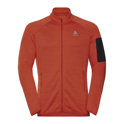 ODLO - Midlayer full zip STEAM Homme mandarin red melange