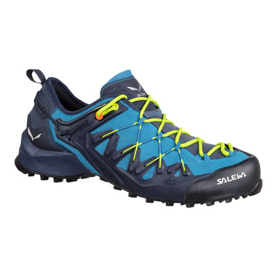 SALEWA - WILDFIRE EDGE - Approach Shoes - Men's - premium navy/fluo yellow