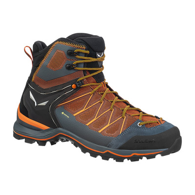 SALEWA - MTN TRAINER LITE GTX - Zapatillas de senderismo hombre black out/carrot