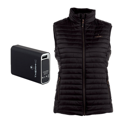 THERM-IC - POWERVEST HEAT -Piumino riscaldante Donna black + batteria 5200mAh