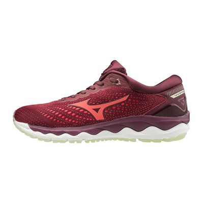 MIZUNO - WAVE SKY 3 - Chaussures running Femme mauve wine/cayenne/bokcho