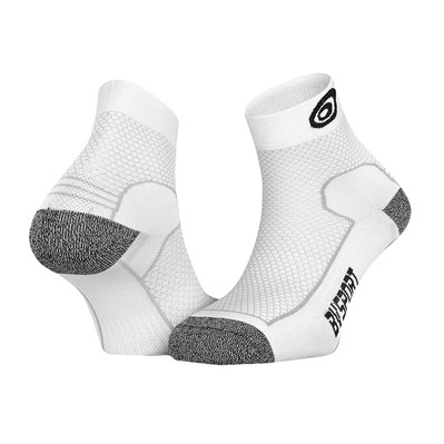 BV SPORT - DOUBLE POLYAMIDE EVO - Calcetines blanco/gris