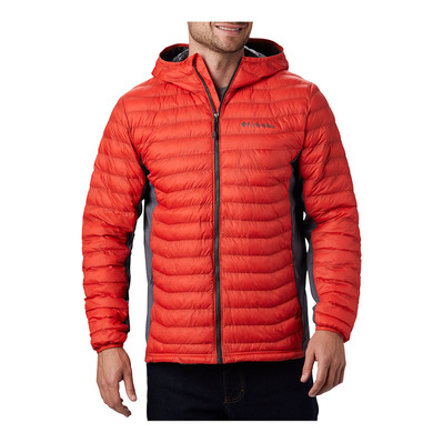 COLUMBIA - Powder Pass Hooded Jacket Homme Wildfire