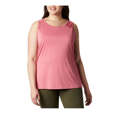 COLUMBIA - PEAK TO POINT II - Débardeur Femme rouge pink heather