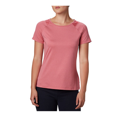 COLUMBIA - Peak To Point II SS Tee Femme Rouge Peak Heather