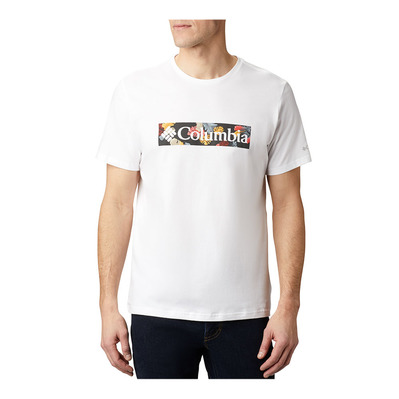 COLUMBIA - M Rapid Ridge Graphic Tee Homme White, Wildfire Framed Floral