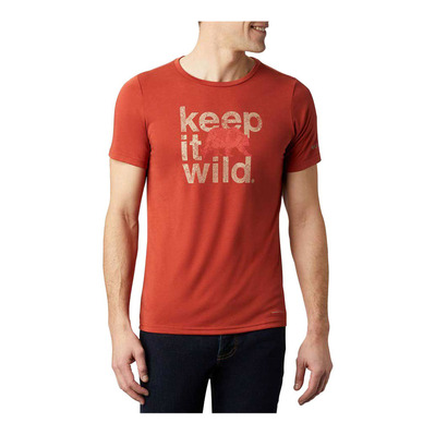COLUMBIA - Terra Vale II SS Tee Homme Carnelian Red Keep It Wild
