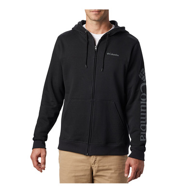 COLUMBIA - M Columbia Logo Fleece FZ Homme Black, City Grey