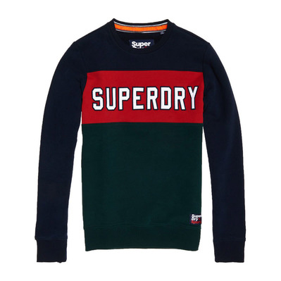 ACADEMY COLOUR BLOCK - Sweat Homme navy/red/green