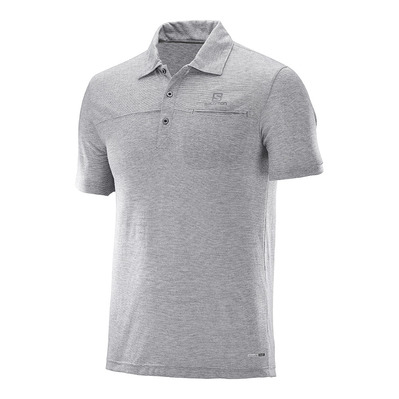SALOMON - Polo EXPLORE POLO M Gy Homme LIGHT GREY
