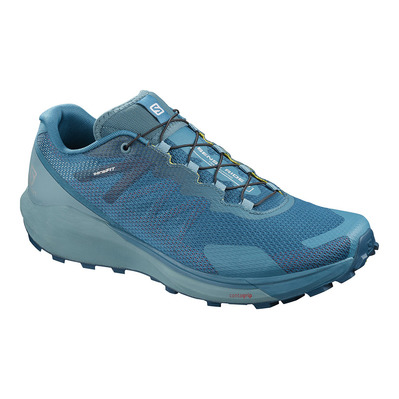 SALOMON - SENSE RIDE 3 - Chaussures trail Homme lyons blue /smoke blue/lemon zest