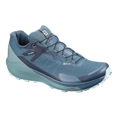 SALOMON - SENSE RIDE 3 GTX INVIS. FIT - Trail Shoes - Women's - indigo