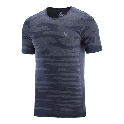 SALOMON - T Shirt XA CAMO TEE NIGHT SKY/Heather Homme NIGHT SKY/HEATHER