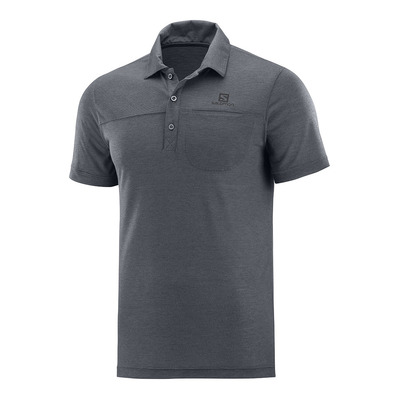 SALOMON - Polo EXPLORE POLO M Ebony Homme EBONY