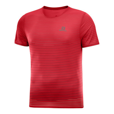 SALOMON - SENSE - Camiseta hombre goji berry/red dahlia