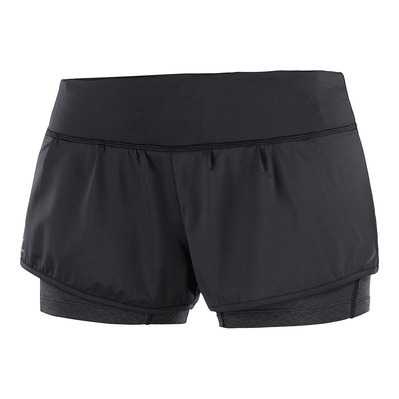 SALOMON - ELEVATE AERO SHORT W Black/Black Femme BLACK/BLACK