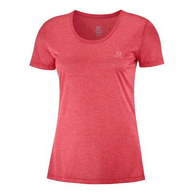 SALOMON - T Shirt AGILE SS TEE W Cayenne/Heather Femme CAYENNE/HEATHER