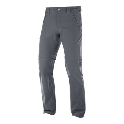 SALOMON - WAYFARER STRAIGHT ZIP - Pantalon convertible Homme ebony