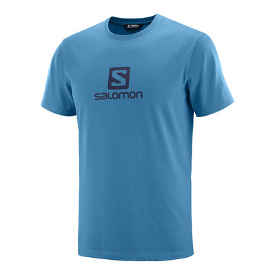 SALOMON - T Shirt COTON LOGO SS TEE M Fjord Blue Homme FJORD BLUE/NIGHT SKY
