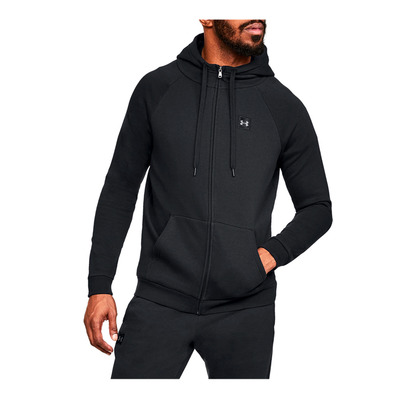 UNDER ARMOUR - RIVAL FLEECE FZ HOODIE-BLK Homme Black/Black
