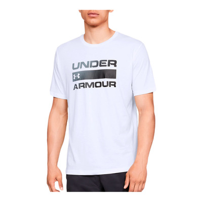 UNDER ARMOUR - UA TEAM ISSUE WORDMARK SS-WHT Homme White/Black