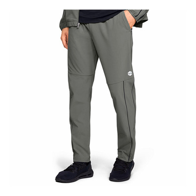 UNDER ARMOUR - RECOVERY WOVEN - Pantaloni Uomo gravity green/metallic silver