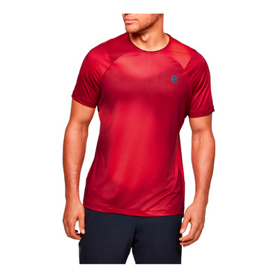 UNDER ARMOUR - RUSH HG - Camiseta hombre cordova/black
