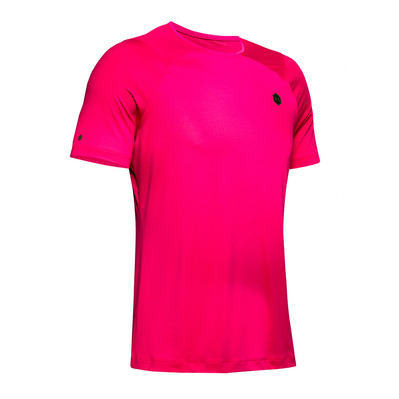 UNDER ARMOUR - RUSH HG - T-shirt Uomo pink surge/black