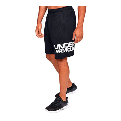 UNDER ARMOUR - UA Tech Wordmark Shorts-BLK Homme Black/White