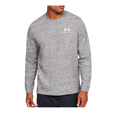 UNDER ARMOUR - SPORTSTYLE TERRY LOGO CREW-WHT Homme Onyx White/White