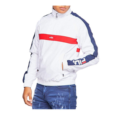 687032 JONA - Sweat Homme bright white/black iris/true red