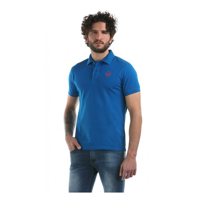 HB COLOR - Polo Homme mykonosblue/red