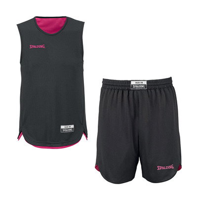 DOUBLE FACE - Camiseta + Short  reversible hombre black/fushia pink