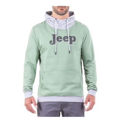 Outfiter JEEP VINTAGE - Sudadera hombre greyish green/light grey melange