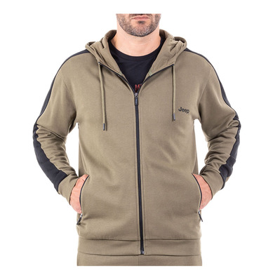 Outfitter BICOLOR - Sudadera hombre burnt olive/black