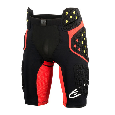 SEQUENCE PRO - Short de protection black/red