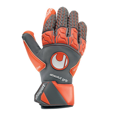 AERORED SUPERGRIP REFLEX - Gants de gardien dark grey/red fluo/black