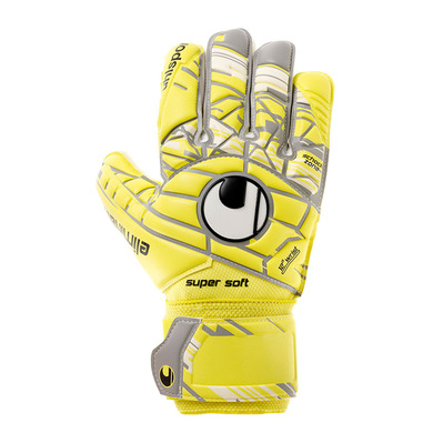 ELIMINATOR SUPERSOFT - Gants gardien lite fluo yellow/grey taup