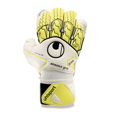 ABSOLUTGRIP BIONIK+ - Gants gardien white/fluo yellow/black