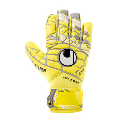 ELIMINATOR SOFT HN COMP - Gants de gardien lite fluo yellow/grey taup