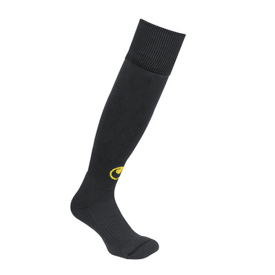 TEAM ESSENTIAL - Chaussettes foot black/fluo yellow
