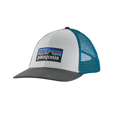 PATAGONIA - P-6 LOGO LOPRO - Casquette white w/forge grey