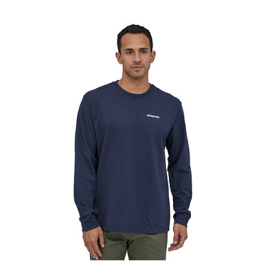 PATAGONIA - M's L/S P-6 Logo Responsibili-Tee Homme Classic Navy