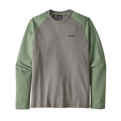 PATAGONIA - P-6 LOGO LIGHTWEIGHT - Sweat Homme feather grey w/ellwood green