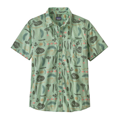 PATAGONIA - M's Go To Shirt Homme Southern Farm Basket: Gypsum Green