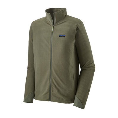 PATAGONIA - R1 TECHFACE - Polaire Homme industrial green
