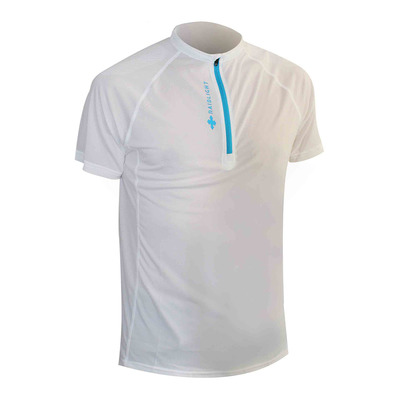 RAIDLIGHT - ACTIV RUN SS SHIRT MID ZIP Homme WHITE