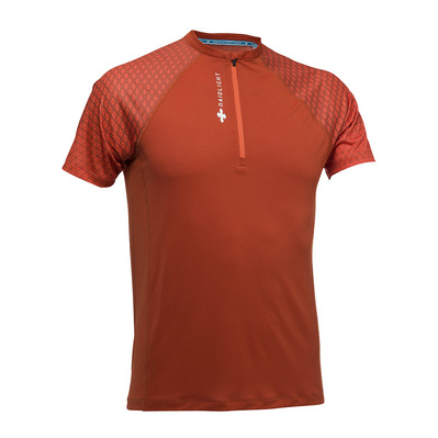 RAIDLIGHT - ACTIV RUN SS SHIRT MID ZIP Homme BURNT ORANGE