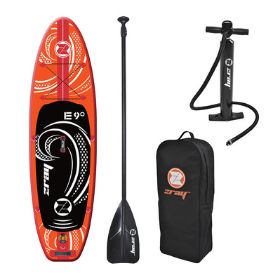 "E9 9'0"" - Stand up paddle gonflable orange + accessoires"